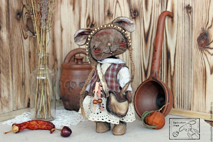 Купить Мыша - серый, мышь, тедди, мишка-тедди, друзья тедди, винтаж, коллекционная игрушка