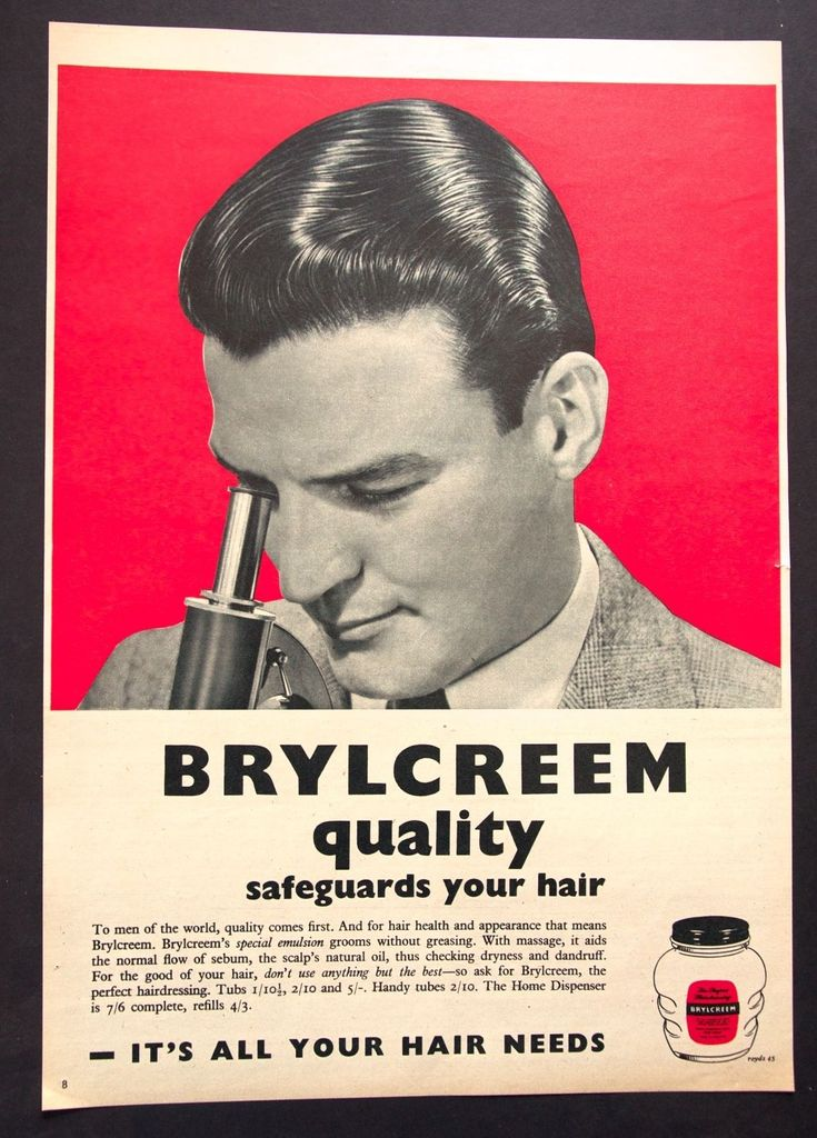 BRYLCREEM - Vintage Colour Magazine Advert - Male Grooming / Hair (1950s)  * | Collectables, Advertising Collectables, Other Advertising Collectables | eBay!