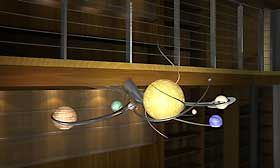 Solar System Chandelier - Design II & The Galaxy Table -- I'm kind of drooling over this a little