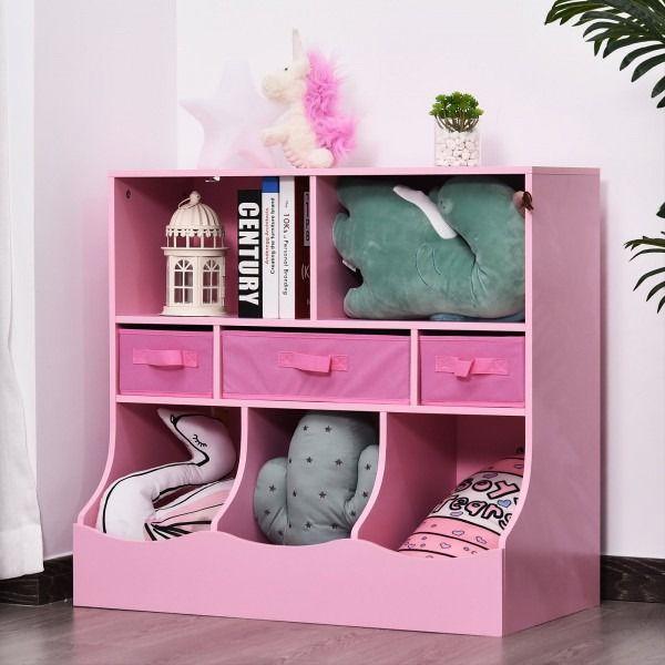 Meuble Rangement Rose Avec 8 Espaces Rangement Enfant Rangement Jouet Rangement Chambre Enfant Home Decor Changing Table Furniture