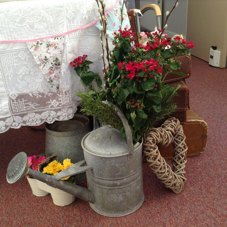 Lovely old watering can and bucket for hire