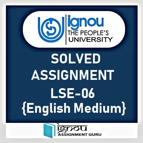 LSE-06 Developmental Biology in English Solved Assignment