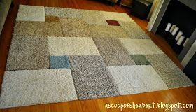 Make your own area rug for under $30! I am so doing this!