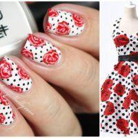 Rockabilly Pin-Up Nail Art ~ Roses & Polka Dots   Sassy Shelly: Nail Blog   Bloglovin'