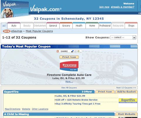 Free printable coupons from Valpak