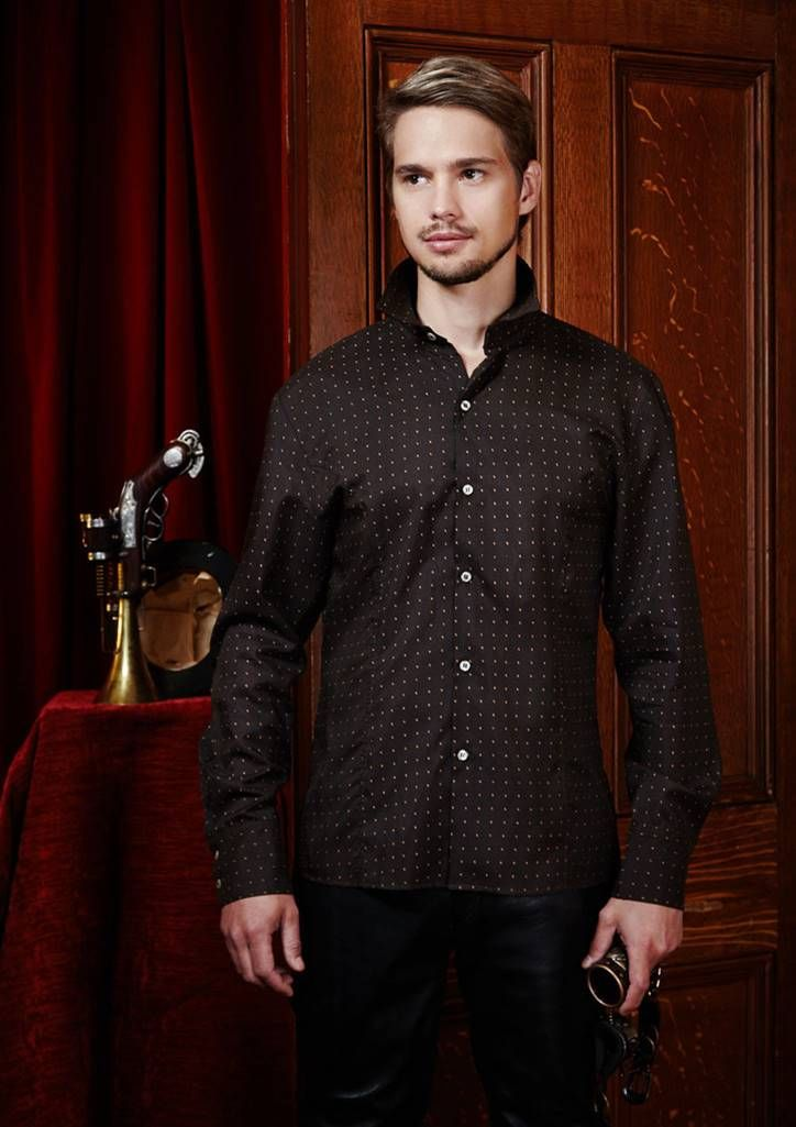 Men's fitted shirt from the steampunk collection.