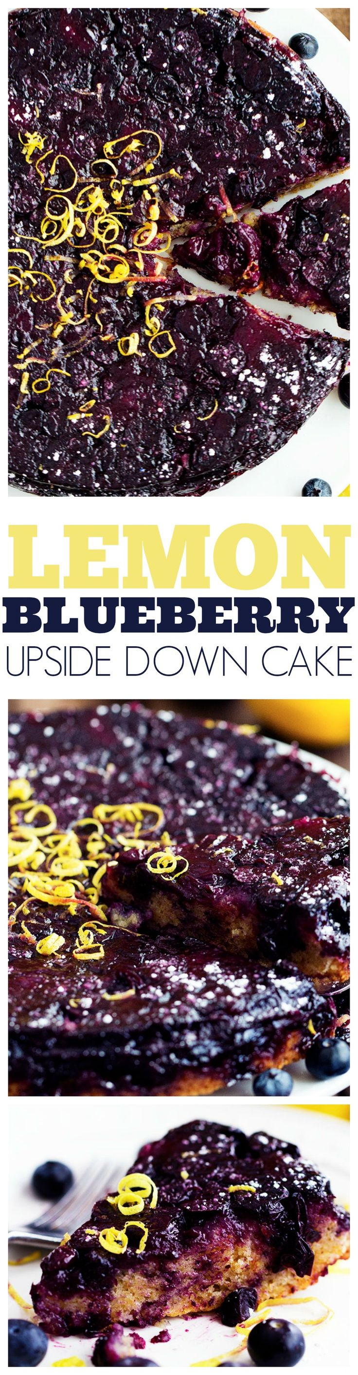 This Blueberry Lemon Upside Down Cake is out of this world!!! The lemon cake is moist and refreshing and the blueberry topping is amazing!