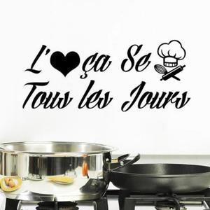 latest crative dessin anim stickers muraux pour cuisine dcoration la maison with stickers rouge. Black Bedroom Furniture Sets. Home Design Ideas