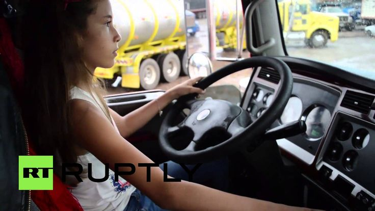 Twelve-year-old Diana Marcela Baquero Avila demonstrated her driving skills in the Colombian city of Villavicencio on Tuesday, manoeuvring a large truck typically used for hauling goods.