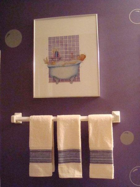MY purple guest bathroom