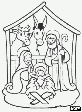 Nativity scene coloring pages, Nativity scene coloring book, Nativity scene printable color pages