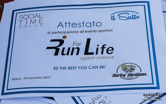 AndòCorri: 19 novembre 2017, Arena Civica di Milano - Run For...