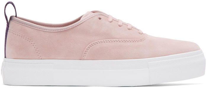 Eytys Pink Suede Mother Sneakers