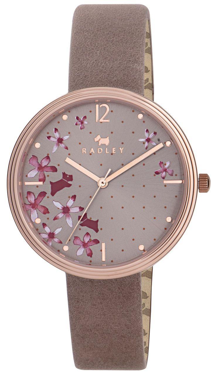 Radley Ladies Floral Dial Pink Leather Strap Watch…