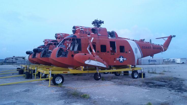 U.S. Coast Guard HH-3 Pelican boneyard Elizabeth City NC [OC] [5312x2988]