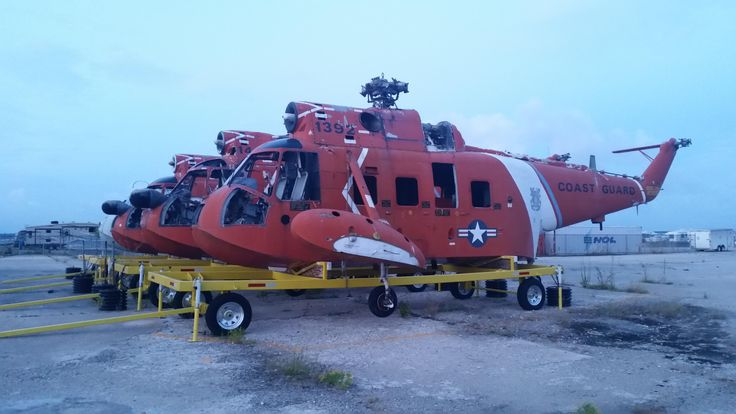 U.S. Coast Guard HH-3 Pelican boneyard Elizabeth City NC [OC] [5312x2988]