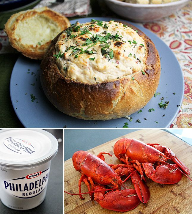 Classics: Maine Lobster Dip... This is seriously delicious. As in, I may have eaten half of it cold, and only stopped because I'm supposed to bring it to a dinner tonight.