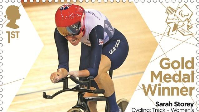 Sarah Storey gold medal stamp - Individual C4-5 500m