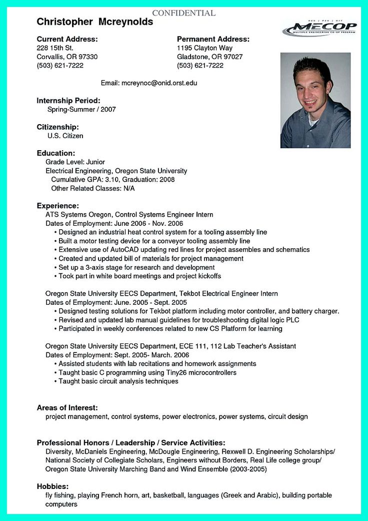 awesome Best College Student Resume Example to Get Job Instantly, Check more at http://snefci.org/best-college-student-resume-example-to-get-job-instantly