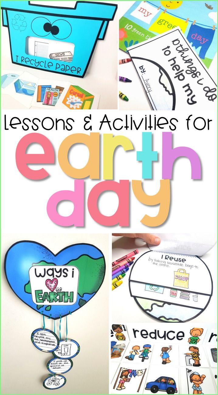 Teach kids about the earth and the environment with these hands-on lessons and activities for Earth Day. Topics include pollution, conservation, the 3 R's (recycle, reduce, and reuse), and more. Kids will gain an awareness and will learn how they can help take care for the earth while engaging in reading, writing, and science activities.