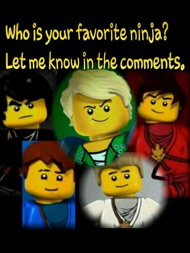 Lloyd the zane then jay and kai and cole are a tie - Ninjago kai jay zane cole lloyd ...