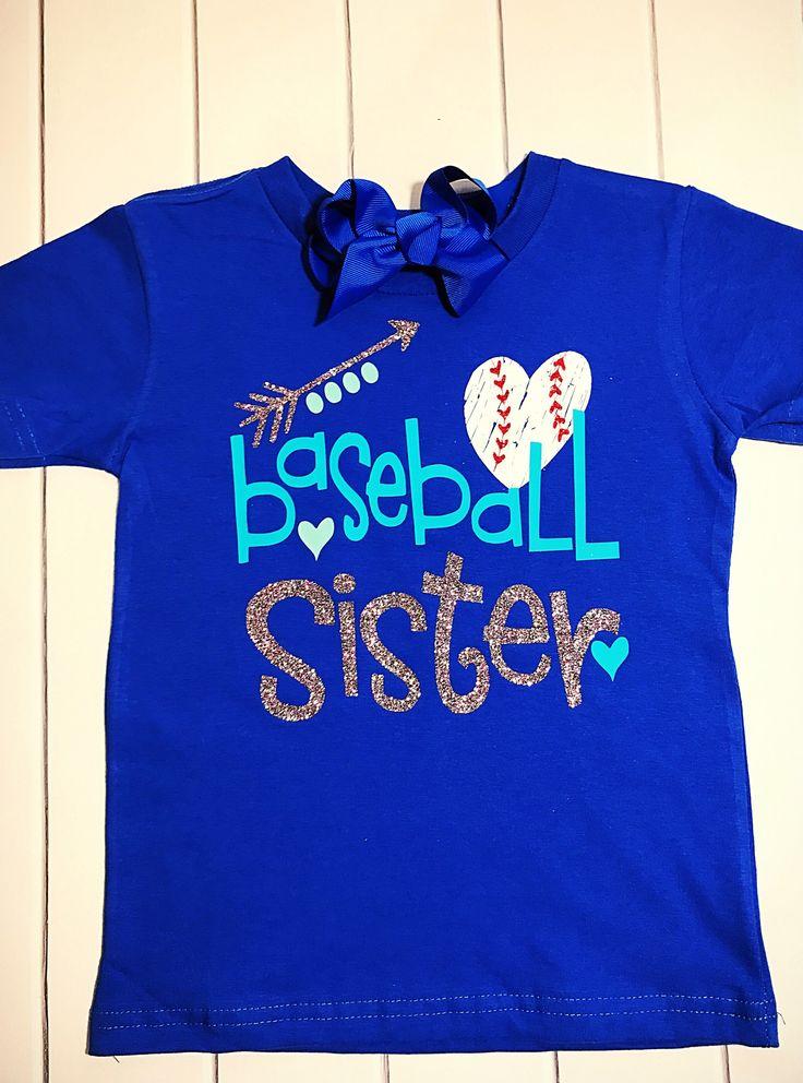 Baseball sister , baseball mom https://www.etsy.com/listing/502868094/baseball-shirt-baseball-sister-baseball
