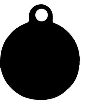 Imarc Kedi Köpek İsimlik Küçük Daire Siyah