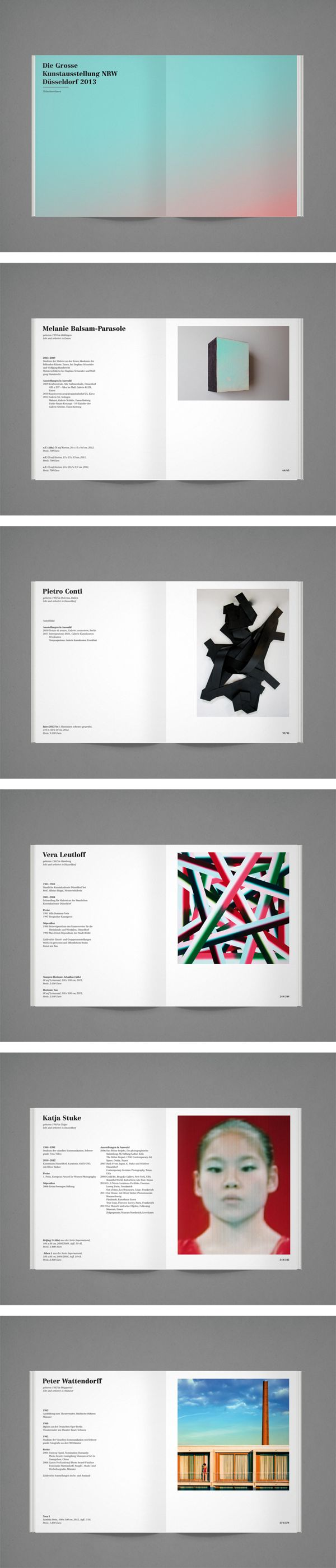 DIE GROSSE Kunstausstellung NRW - Exhibition Catalogue on Behance