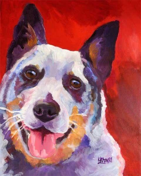Australian cattle dog painting: Australian Cattle Dogs, Acrylic Paintings, Dogs Paintings, Cattle Dogsmi, Dogs Art, Art Prints, Australiancattledog, Acrylics Paintings, Dog Paintings