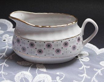 Vintage gravy boat sauce dish porcelain serving dish pitcher rustic home table decor Riga porcelain Soviet porcelain candle holder