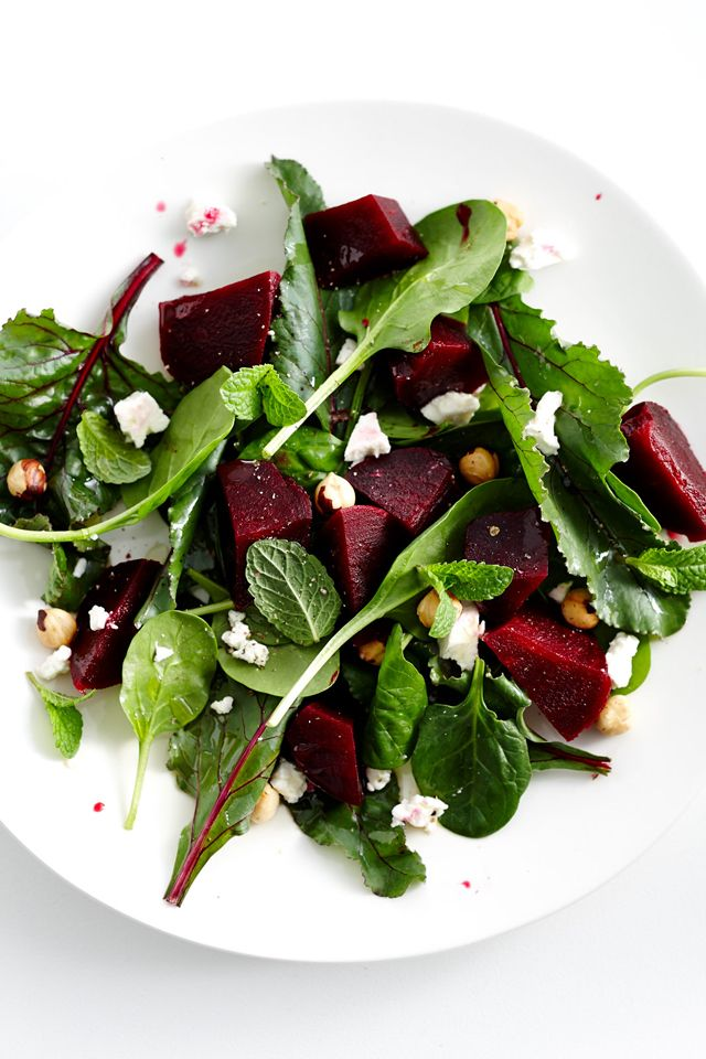Beetroot Salad. I have an idea baby spinach, rocket, beetroot, feta ...