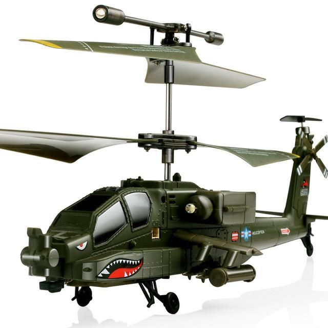 Newest Original SYMA S109G 3CH RC Attack Helicopter AH-64 Apache Helicopter Simulation Indoor Radio Remote Control Toys for Gift