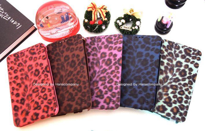 Flip Flip Fashion Leopard Korean Cell Phone Cover for Optimus F7