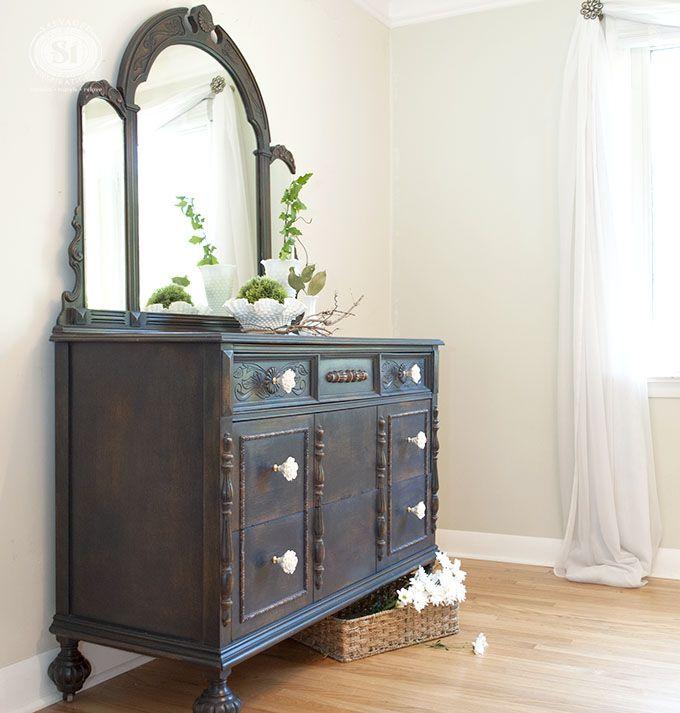 Beautiful Vintage Dresser Restyled In #GeneralFinishes #CoastalBlue. This  Should Be Mine! ; · Distressed FurnitureRefinished ...