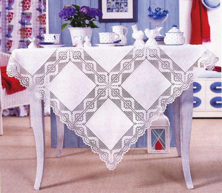 DOIS toalhas de mesa, confecção de malhas + pano .. Discussão sobre LiveInternet - Serviço diário russo on-line