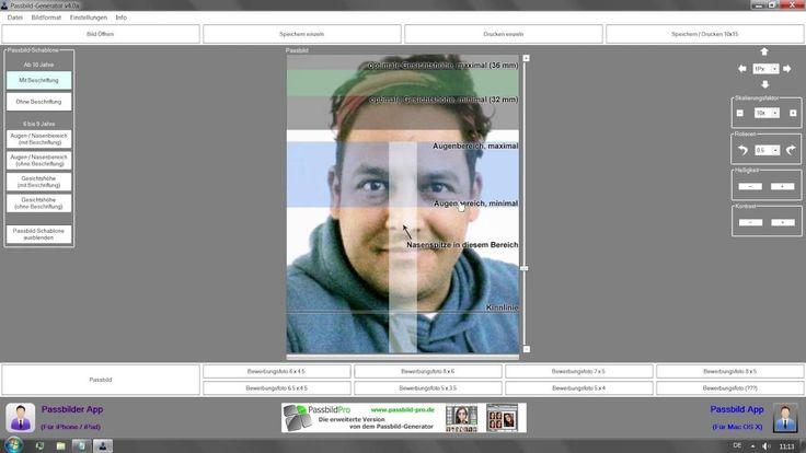Biometrische Passbilder selber machen mit dem Passbild Generator