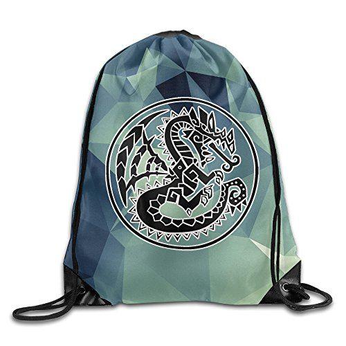 Texhood Monster Dragon Logo Fashion Travel Backpack One S...