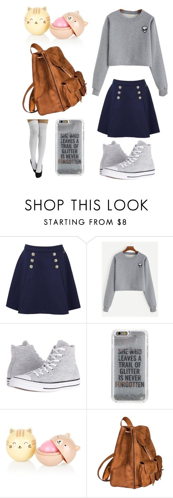 """School #2👓"" by orchidflowrr ❤ liked on Polyvore featuring Tommy Hilfiger, Converse, Agent 18 and Yves Saint Laurent"