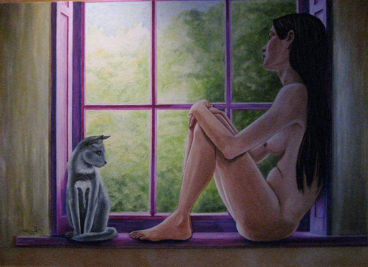 """Desnudo 01 - """"Nostalgia"""" óleo original de 130 x 80 cms VENDIDO"""