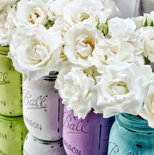 center piece idea, would also work well with cheaper flowers like daisies and baby's breath~ Rustic Wedding Ideas