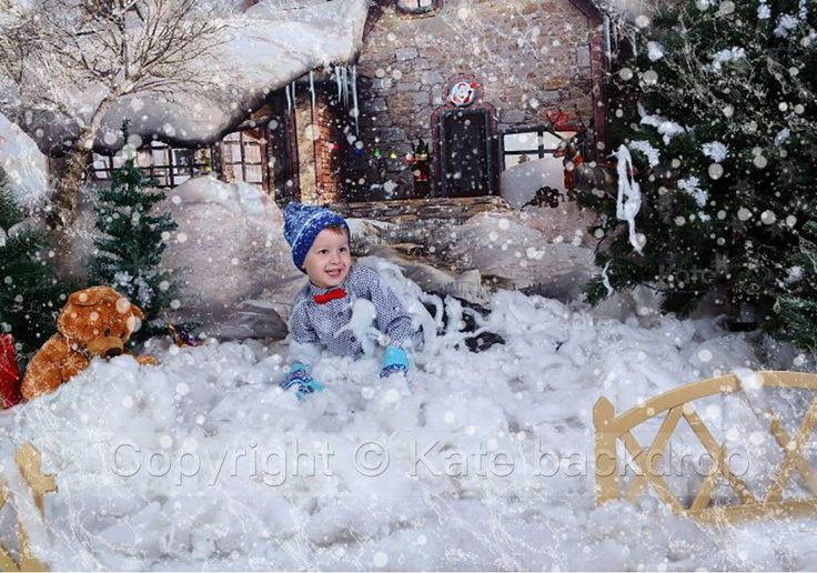 Kate Snow House Fairytale Backdrop Photography With Tree