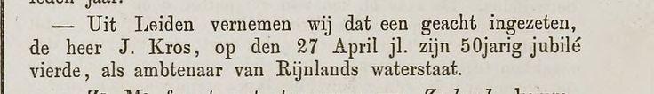 Jan Kros 1797-1869. 50 jarig jubileum