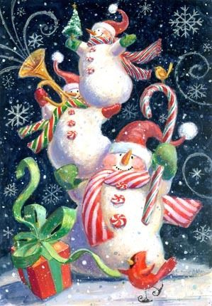 snowmen.quenalbertini: Christmas candy snowmen