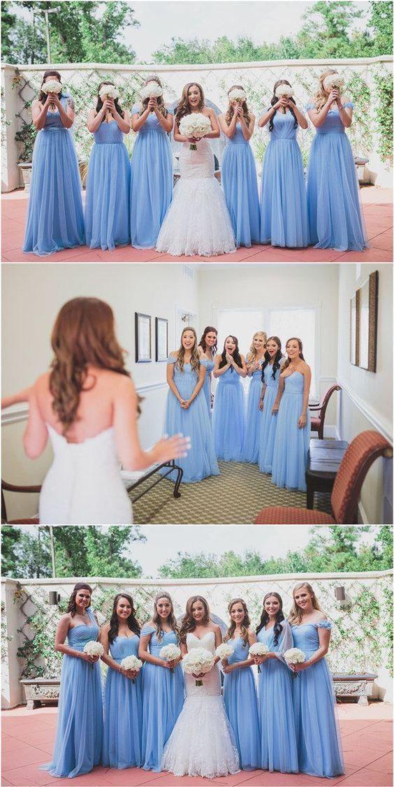 Vestidos para damas de honor en los colores para bodas 2018 de Pantone.