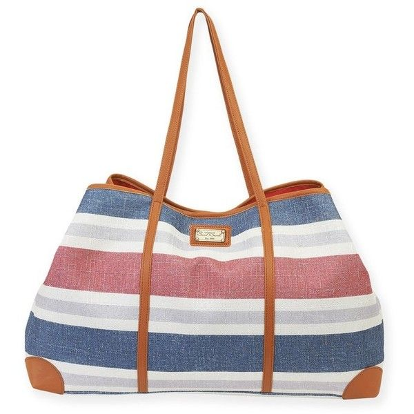Sun N Sand Stripe Gap Tote (639.600 IDR) ❤ liked on Polyvore featuring bags, handbags, tote bags, swimwear, striped tote bag, straw tote beach bag, straw tote, oversized beach tote and straw handbags