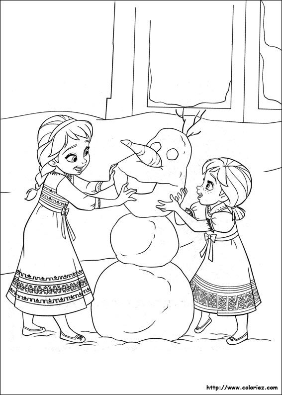 Coloriage à imprimer : Personnages célèbres - Walt Disney - La Reine des neiges numéro 630245