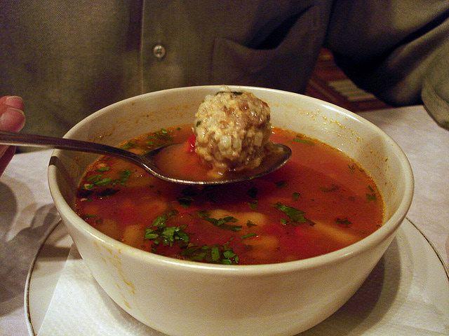 Romanian Sour Meatball Soup Recipe - Ciorba de Perisoare: Romanian Meatball Soup