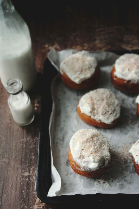 Making Coconut Tres Leches Doughnuts - Notions & Notations of a Novice Cook: Health Food, Leche Doughnut, Healthy Eating, Coconut Milk, Coconut Doughnut, Homemade Donuts, Cooking News, Cooking Tips, Coconut Three