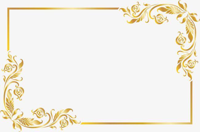 Armacao De Borda Dourada Quadro Clipart Ouro Textura De Borda Imagem Png E Psd Para Download Gratuito Floral Border Design Frame Border Design Wedding Borders