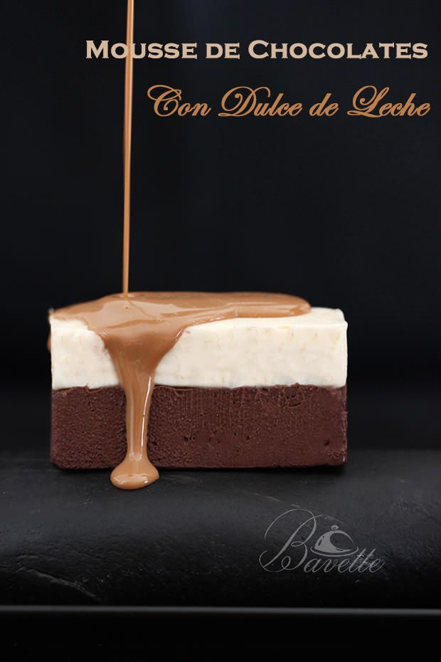 Mousse de chocolate y dulce de leche